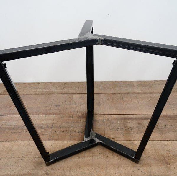 Подстолья для овального стола металлическое чёрное ПДС08