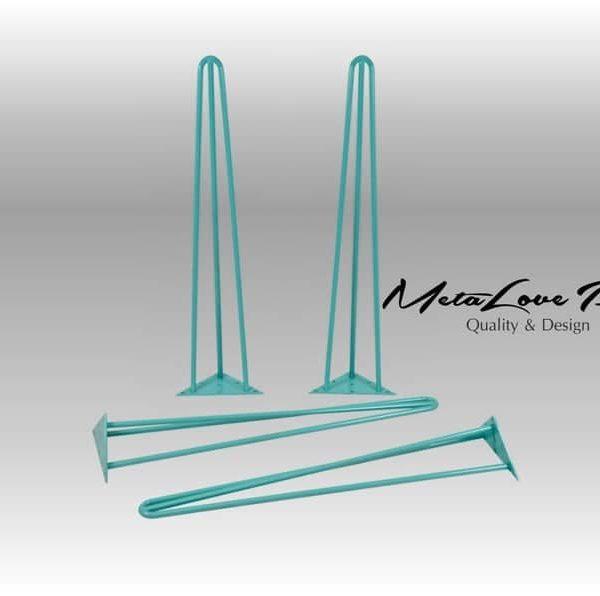 28 & Quot Шпилька ножки стола высокого качества штанга 12 мм, высота 26 & Quot 32 SET (4)