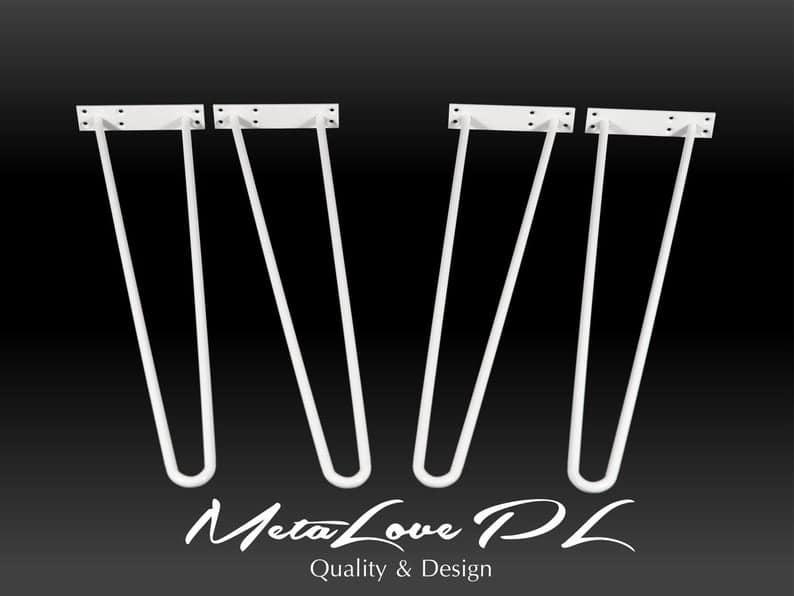 28 & Quot Шпилька ножки стола высокого качества 12мм, высота 26 & Quot 32 SET (4)