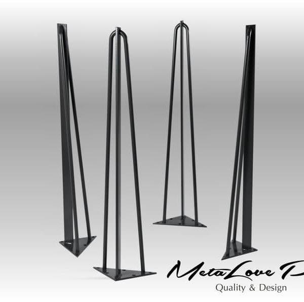 28 & Quot HAIRPIN ПЛЮС, ножки стола высокого качества Род 12 мм, высота 26 & Quot 32 SET (4)
