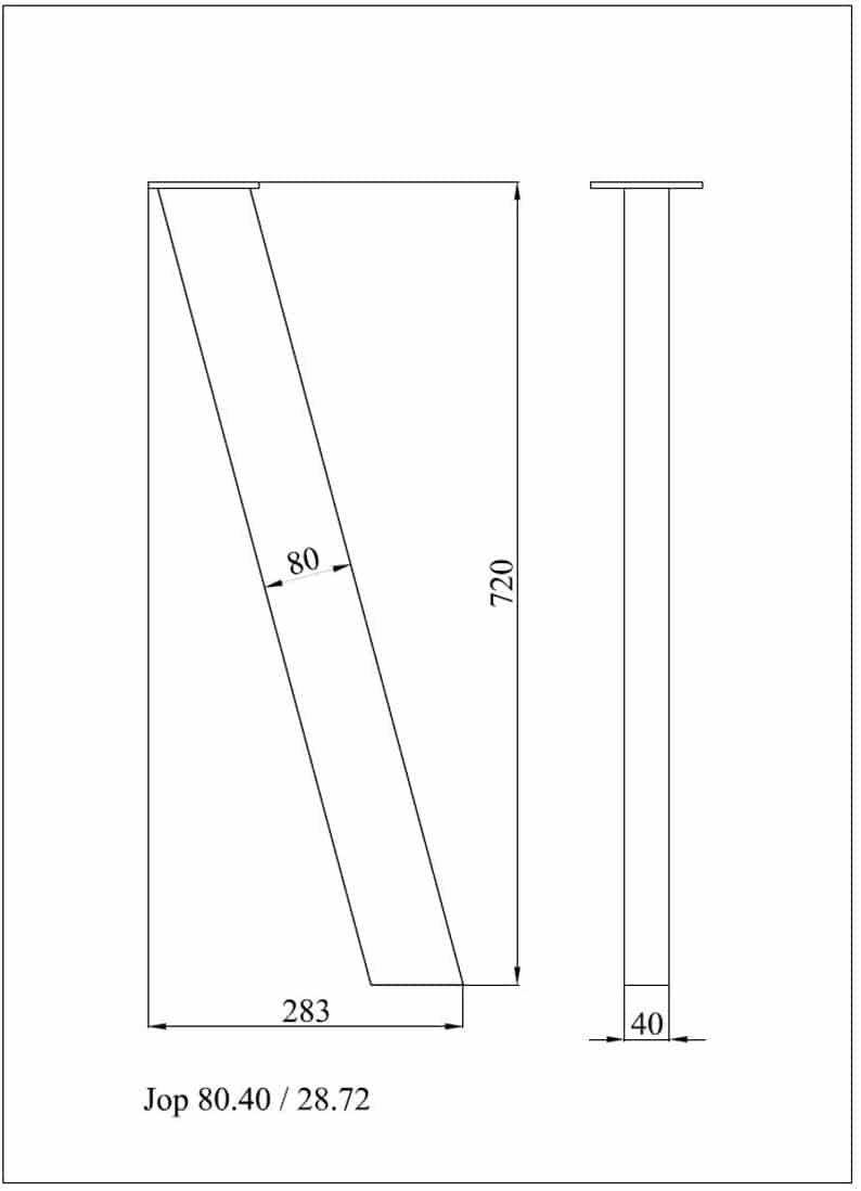 28 & Quot JOP 80.40, ножки высокого качества, высота 26 & Quot 32 SET (4)