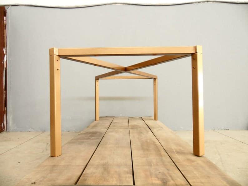 "28 ""H x 24"" W x 52 ""Металлическая основа для обеденного стола, L-Post основа для стола, высота 26"";До 32 """