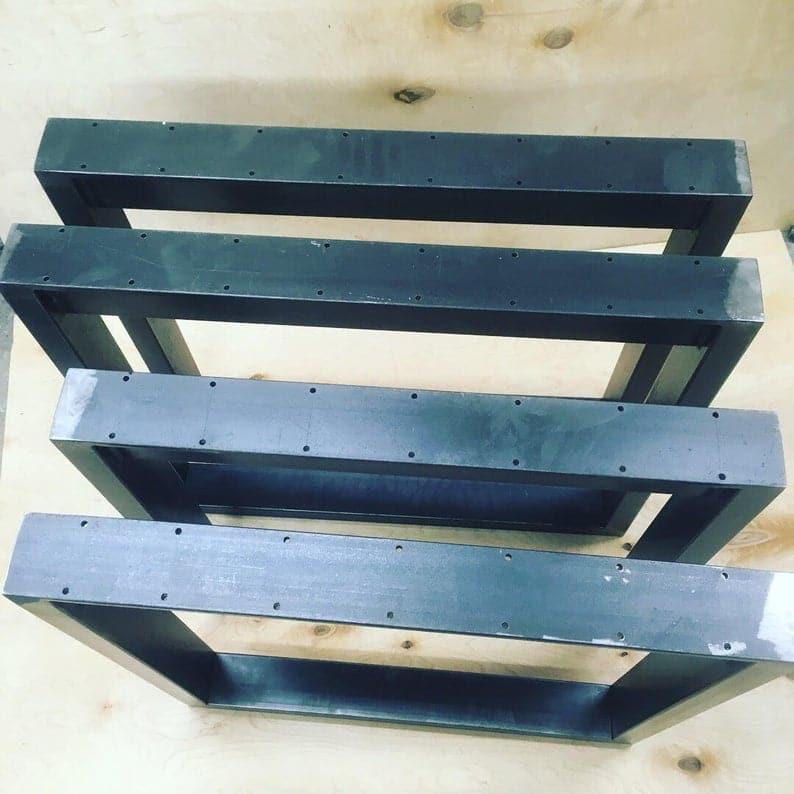 2pcs ofIndustrial Сталь Металл Питание TableLegs От 80 мм х 40 мм секции Очень Крепкая