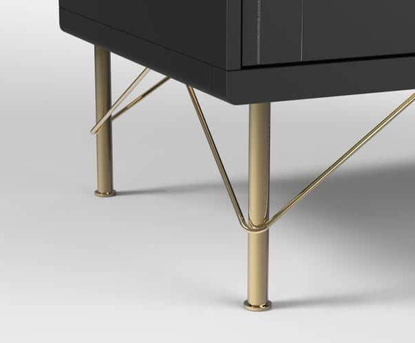 7 7/8 & # 39; & # 39; Золотые ножки для мебели для дивана и шкафа