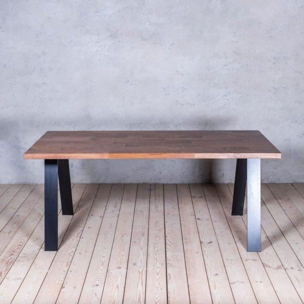 Альберт нашивка Walnut A-образные ножки Промышленный Обеденный стол
