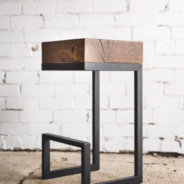 Барный стул / Дуб стул / Промышленный барный стул / Промышленная мебель / Сельский стул / Rustic мебель / Натуральный дуб