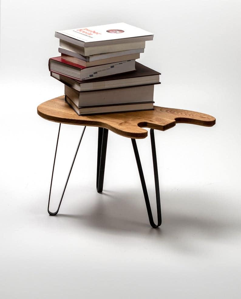 Бас-гитара Таблица P-Model - Дизайн мебель - Oak Wood - Металлические ножки - гитара Art - Журнальный столик - Music Studio - Гаджет - Дизайн интерьера