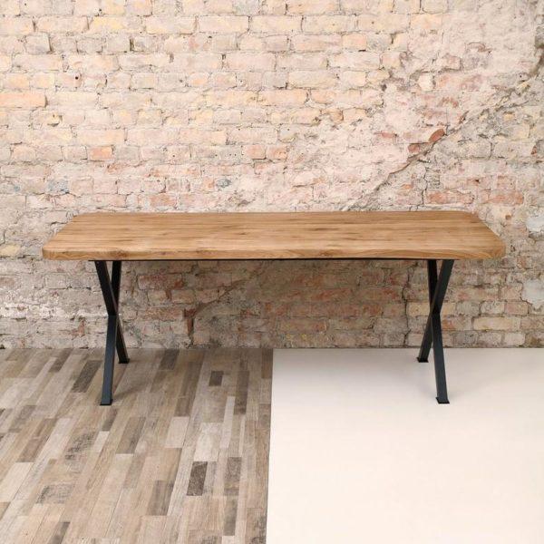 Баттерсея Х Фасонные Ноги Промышленный Дуб Обеденный стол