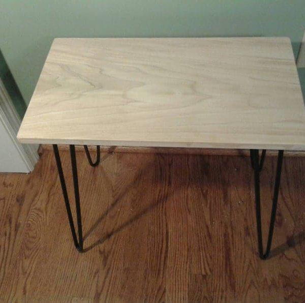 Прекрасный тополь столик с плоской черной 3/8 & Quot шпилька ноги