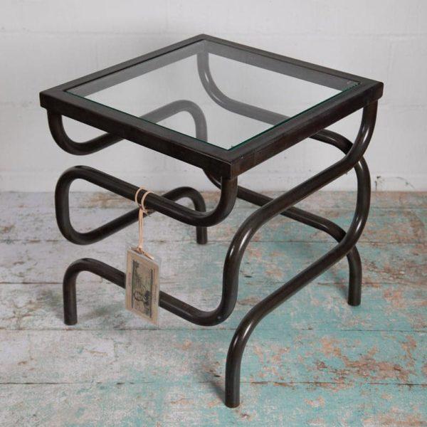 Bellisimo Тройной Turn Leg Журнальный столик металла с бронзового эффекта Финиш Handmade в территории Великобритании из одного куска металла Бесплатная доставка