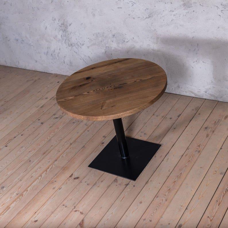 Бистро Ash Круглый Твердый Обеденный стол древесина Промышленного