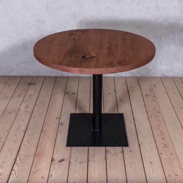 Бистро Дуб Круглого Твердый Обеденный стол древесина Промышленного