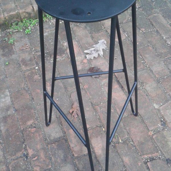 Черный порошковая Шпилька Барного стул Base - DIY - Пользовательское Heights Доступного