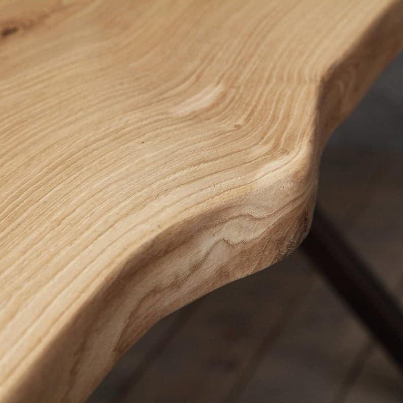 Челси Живая Пограничный Дуб Промышленные Обеденный стол Деревянный Сельский исправленная Урожай