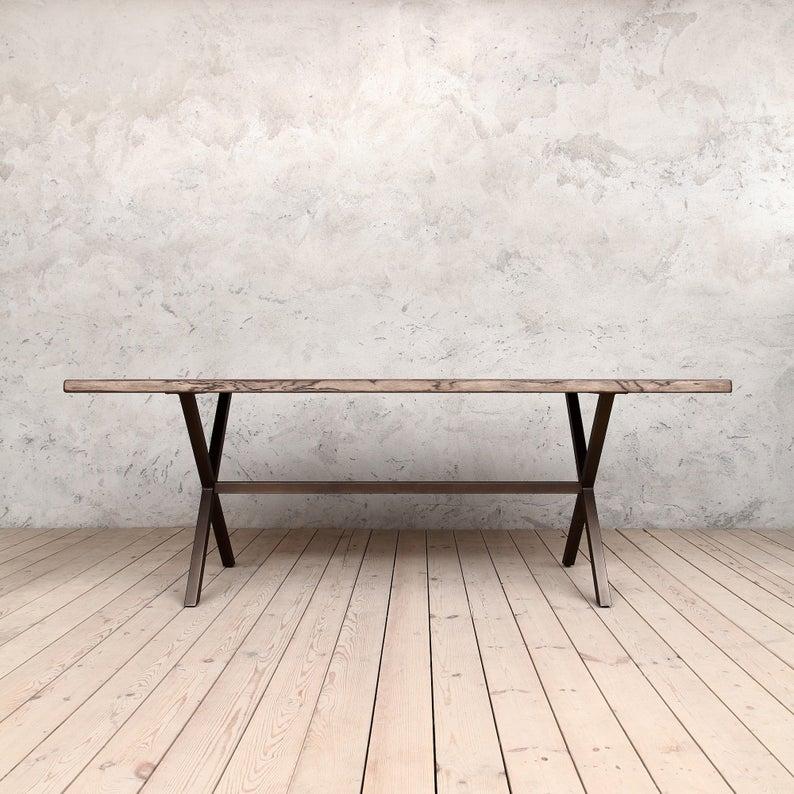 Челси Живая Пограничный Коричневый Дуб Промышленный Обеденный стол Деревянный Сельский Урожай