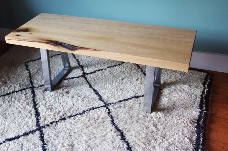 Chicago Avenue Coffee Table // Upcycled Вуд журнальный стол с серебряной металлическими ножками // Прочные // ручной работы