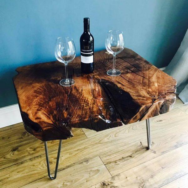 Коренастый дуб журнальный столик с шпилька ногами