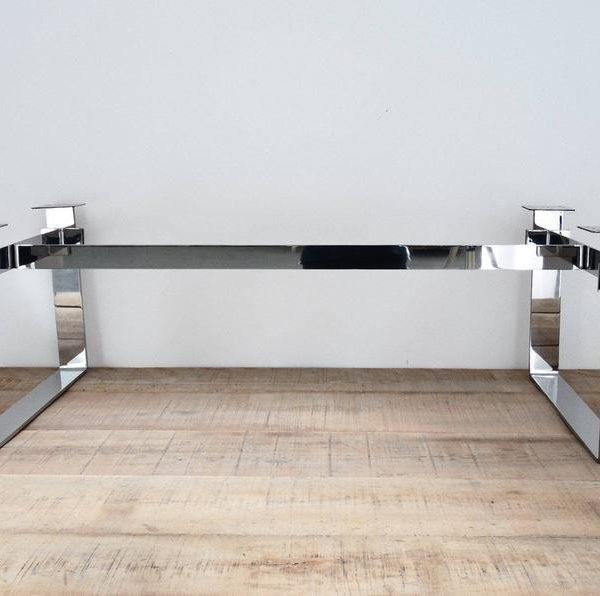 """Ножки журнального столика, основание стола, нержавеющая сталь, 15 & quot;Х 21 """"- кроме 42 & quot;Kemen Высота 26 """"До 32 """""""