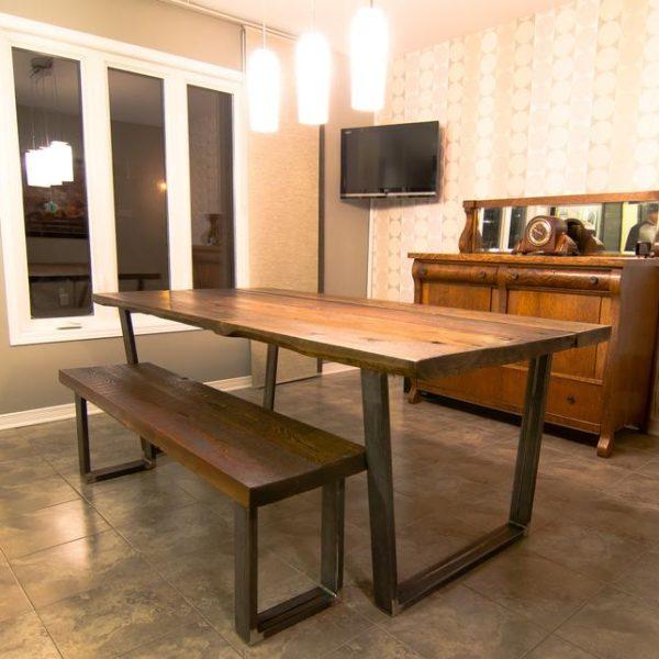 Журнальный столик из мелиорированного дерева, уникальный деревенский и промышленный, городской