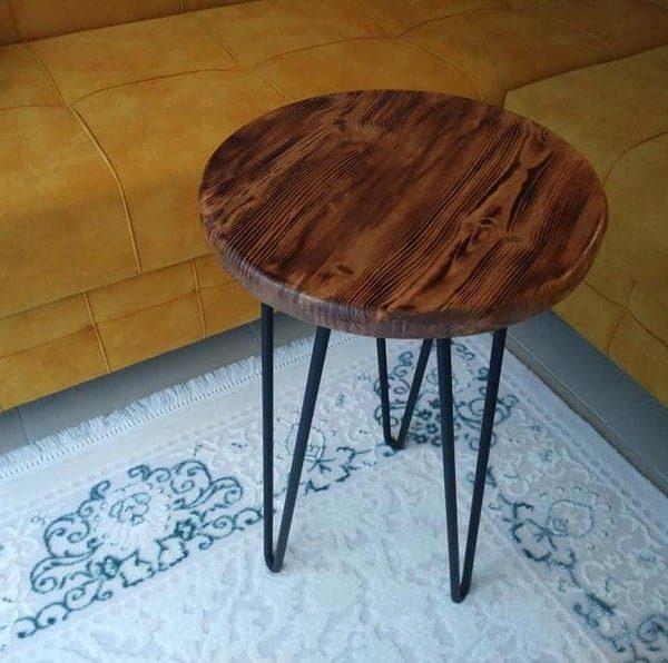 Журнальный столик, тумбочка, натуральный сосновый журнальный столик, деревенский журнальный столик, декор стильный журнальный столик, естественный огонь затемнение