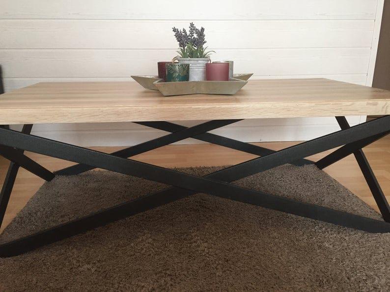 Журнальный столик, Монолитное РћР ° Рє дерева и металла, Современный стиль, Hand Made