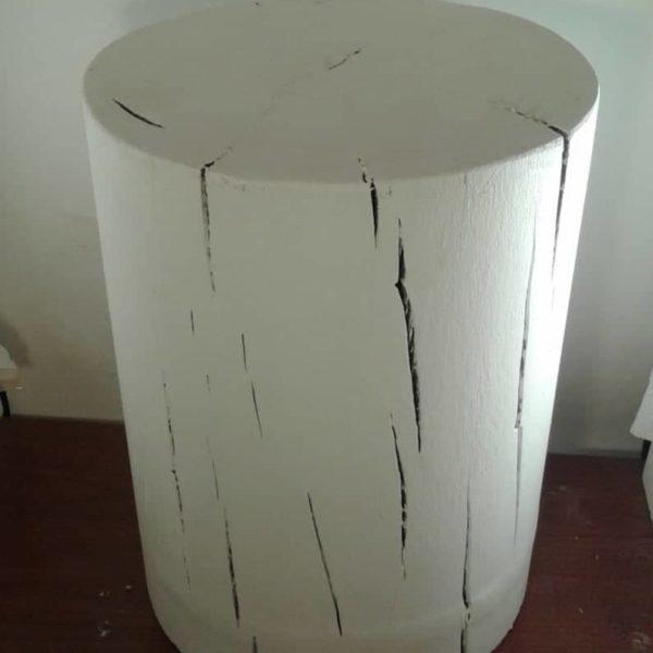 Полностью Окрашенные Белый Stump тумба Прикроватная тумба диван стол Stump стул - 8-9 & Quot Диаметр Пользовательские Высоты Доступные