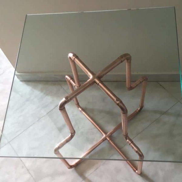 Медная основа для журнального столика |Металлическая основа |Конец таблицы |Основание стола |Экструзионный столик |Металлические ножки стола |Стимпанк Ноги