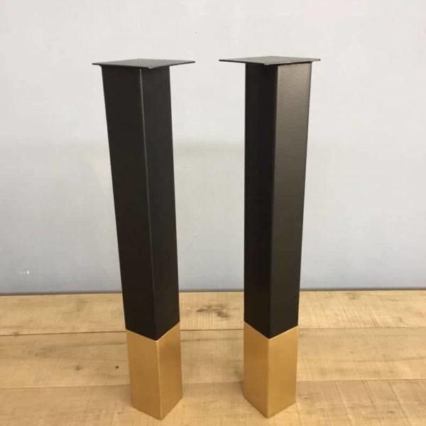 Изготовленные на заказ стальные латунные кухонные островные ножки, встречные ножки, набор современных ножек стола (4)