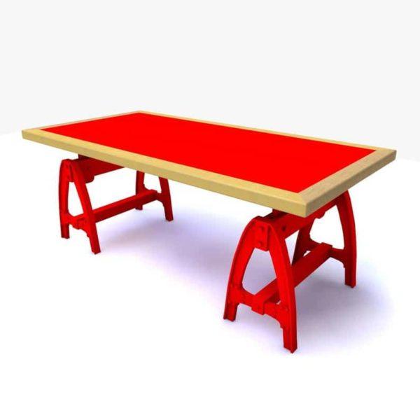 Дин - Обеденный стол - Шпон или Проданный дерево - Металлические ножки