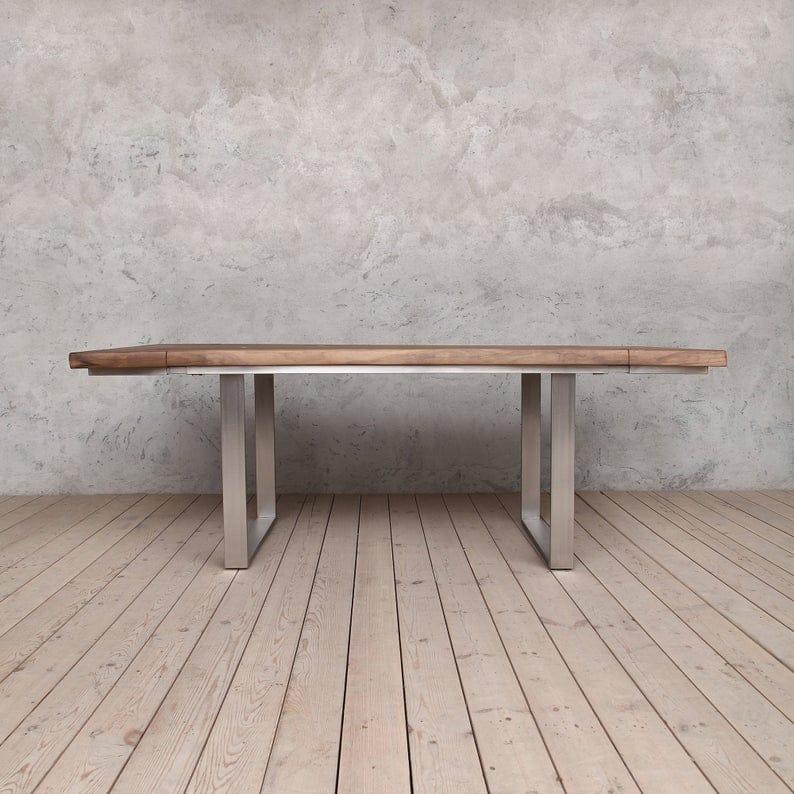 Dell Выдвижной U образные Ноги Живого Край орех обеденного стол