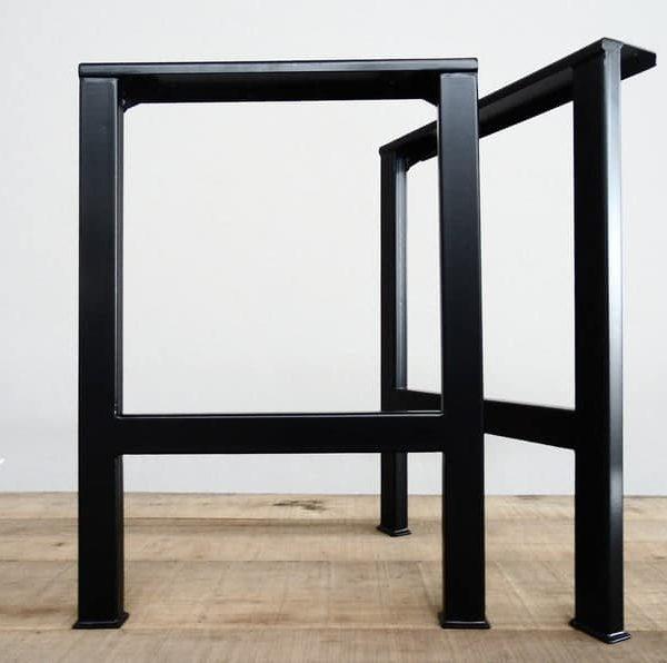 """Ножки стола, 28 & quot;H-образные ножки стола, ширина основания 20 """", высота 26""""- 32 & quot;Набор (2)"""