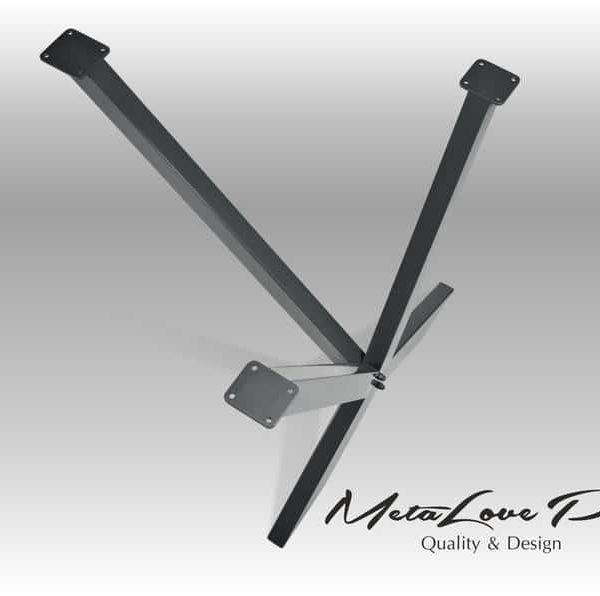 Рабочий стол Ножки, ножки, металлические ножки, столик, обеденный стол, стол, мебель, ноги, стальные ноги, промышленный стол, набор из 2, IKSEDO 80,40