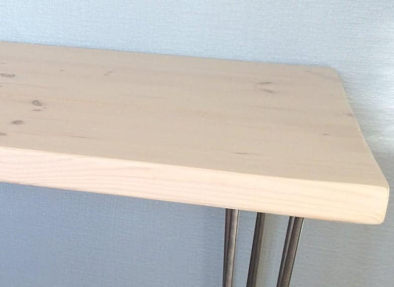Рабочий стол / дерево стол / деревянный стол / Массив дерева / Table / Urban / Recycled / выполненное на заказ / Подставка для телевизора / Handmade в Великобритании / Шпилька ноги / Металлические ножки / мелиорированных / переработанная /
