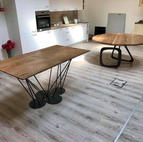 Обеденный стол / Промышленный стол / Промышленная мебель / Дерево / Ферма стол / Сельский Декор / Декор для дома / Мебель / Стол