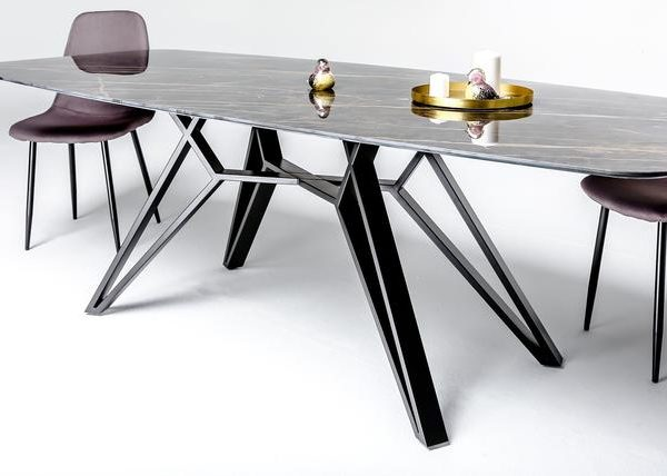 Металлическое подстолье для обеденного стола на 4 ножках QO07