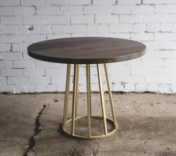 Подстолье круглое металлическое под журнальный стол ПДС46