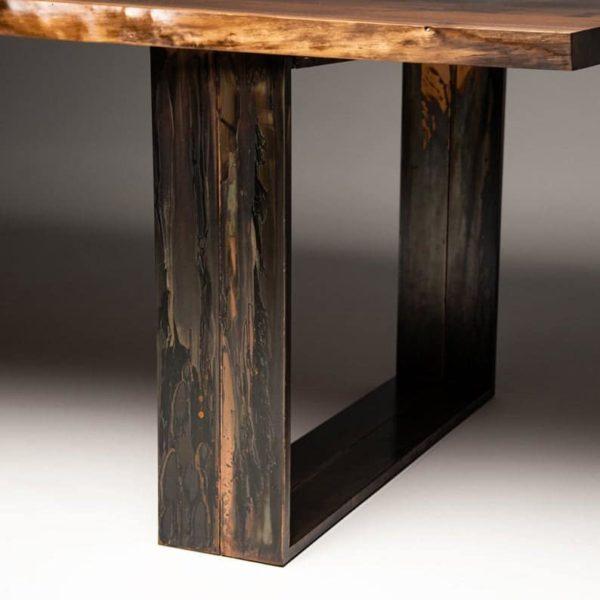 Бедственное медное покрытие металл ножки стола (набор из 2)