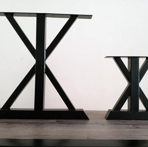 Подстолья для тяжелых столешниц с двумя стальными опорами ПДС13