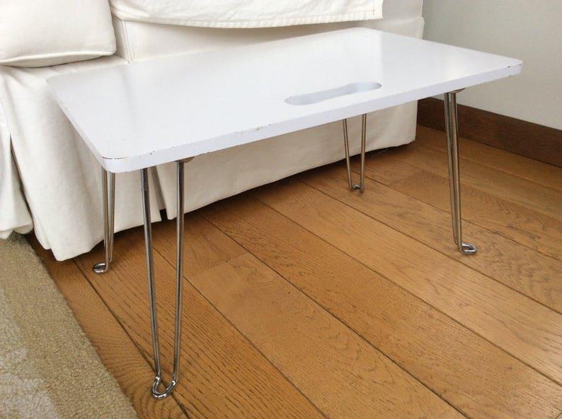 Сложите и Носите Столик с Folding шпилька ноги и Вырез ручкой