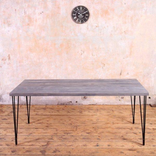 Глупость Промышленный Стиль Деревянные Металл Обеденный стол шпилька Ноги Сельский Дом Ретро