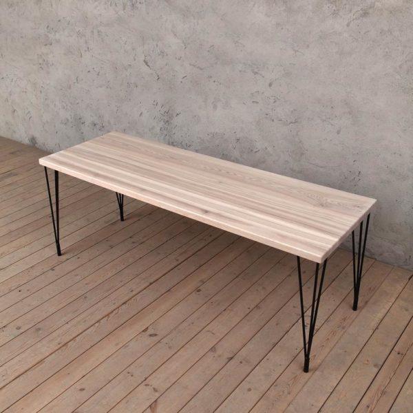 Глупость Твердая Ash Обеденный стол с Шпилькой Эпических индустриального стилем
