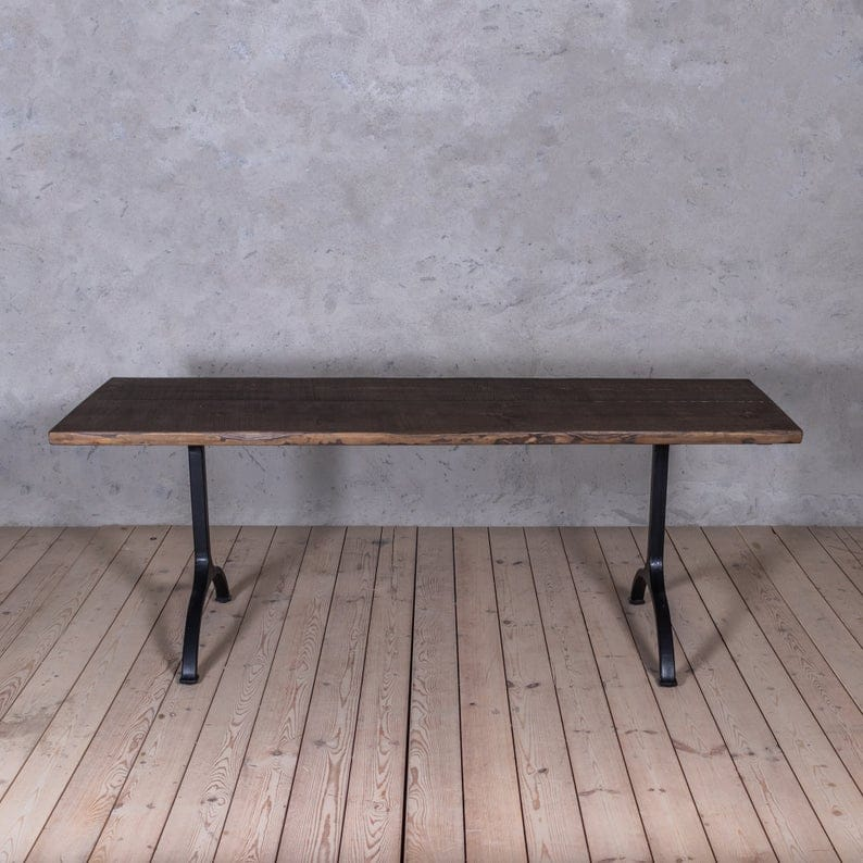 Forth Modern Industrial Стиль Обеденный стол из дерева Металлические U Ноги Shaped труб Деревенское ретро