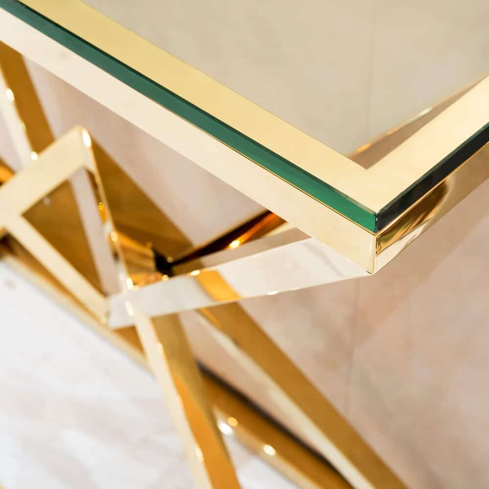 gold glass console table 2 3 3