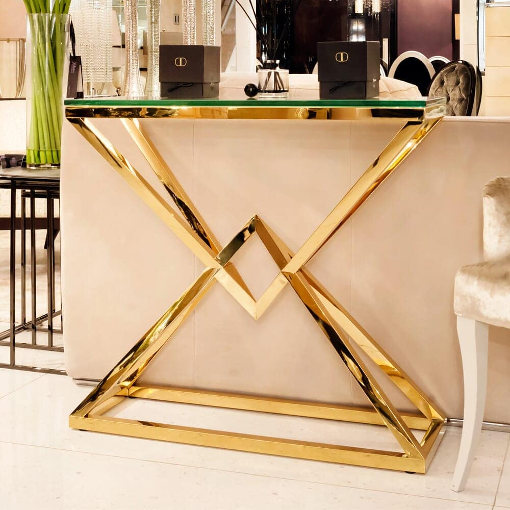 gold glass console table 2 3