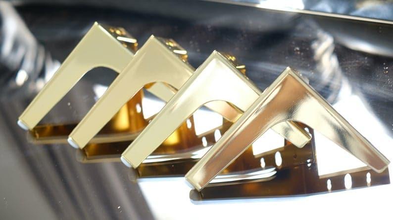 Золото Металл диван ноги или шкаф для ног Современная роскошь Стиль 15 см в Heigh