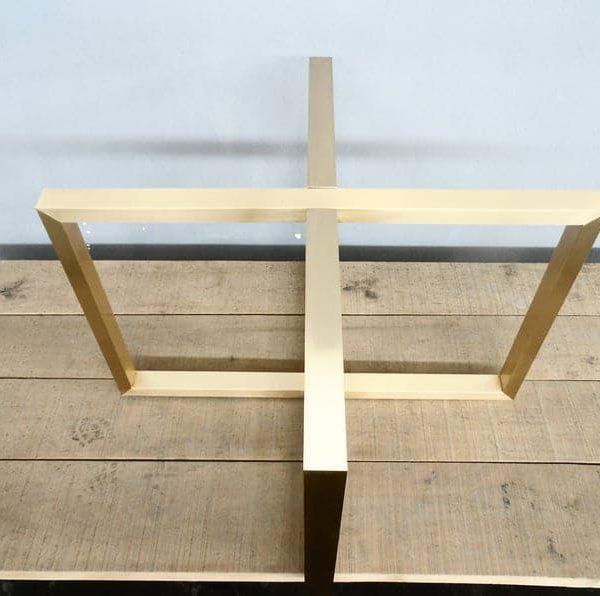 Золотые ножки стола для круглого стекла, мрамора, деревянных столешниц, латунной столовой основы круглого стола