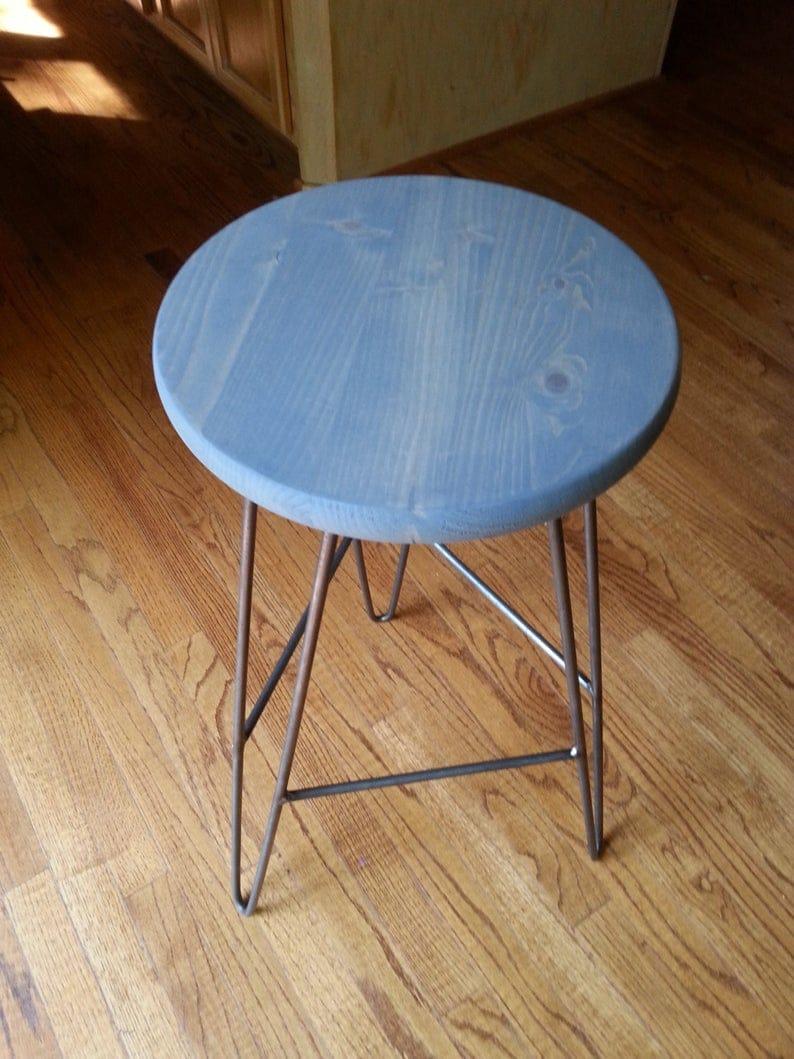 Шпилька Барный стул Закаленный серый Top -Custom Heights Доступные