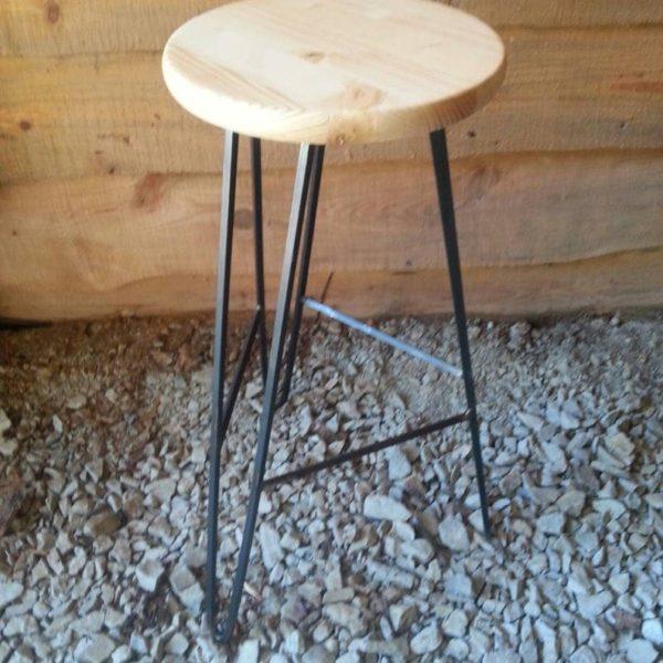 Шпилька Барного стул Clear Wood Top - Пользовательское Heights Доступный