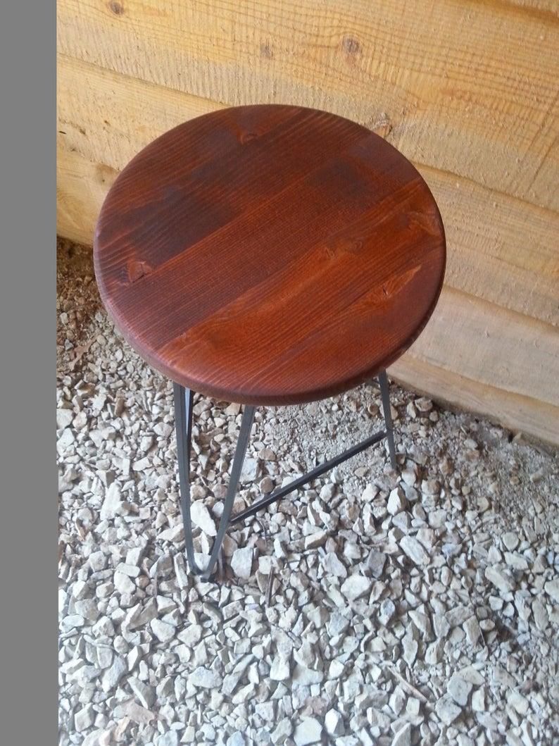 Шпилька Барного стул Red Oak Top - Пользовательское Heights Доступный