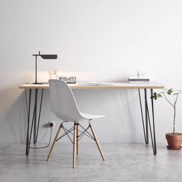 Шпилька стол и обеденный стол - белый Formica Березовая фанера и наши лучшие продажи Pins - Все размеры